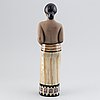 Mari simmulson, a stoneware sculpture of a woman, upsala ekeby.