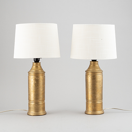 A pair of bitossi table lamps, italy.