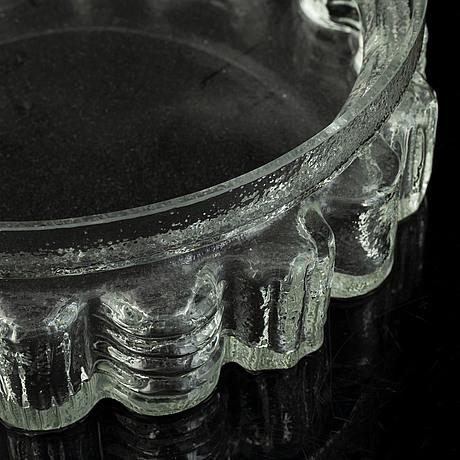 Po ström, a vase and a bowl, alsterfors glasbruk around 1970.