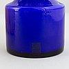 Po ström, five glass vases, alsterfors glasbruk, ca 1970.