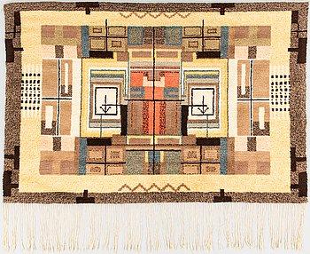 Laila Karttunen, a Finnish long pile rug. Ca 160x110 cm.