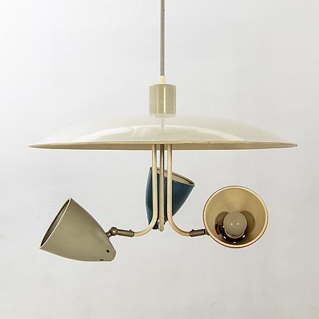 H busquet taklampa för hala zeist 1950-tal.