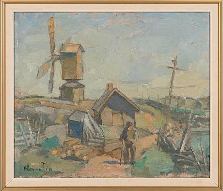 Väinö rautio, oil on canvas, signed.