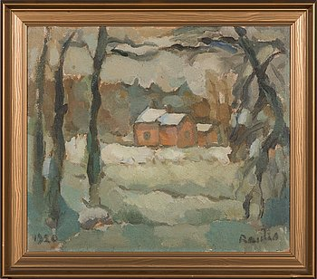 Väinö Rautio, oil on canvas, signed and dated 1920.