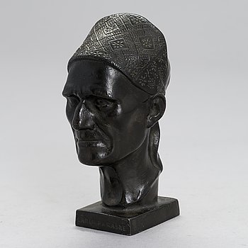 Alpo Sailo, a metal sculpture, signed and dated 1935.