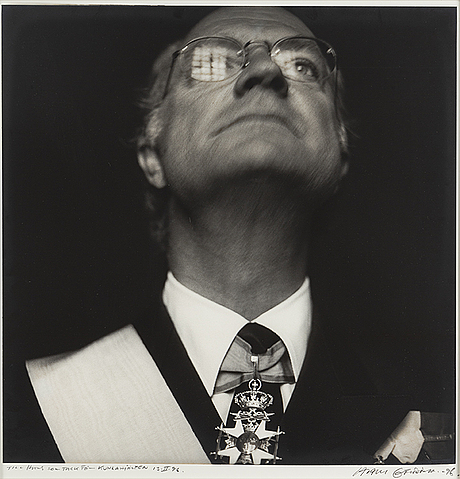 Hans gedda, photograph signed and dated -96.