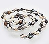 Pearlnecklace  cultured pearls, freshwater, south sea and saltwater, length approx 180 cm.