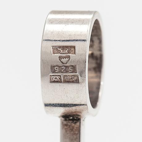 Elis kauppi, a sterling silver pendant with tiger's eye pearls. kupittaan kulta, turku 1974.