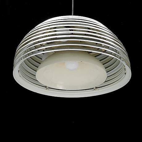 """Kazuo motozawa, a chrome ceiling pendant """"saturno"""" for staff leuchten, late 20th century."""