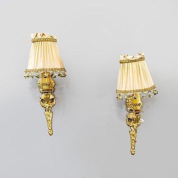 Lampetter ett par Louis XVI-stil 1900-tal.