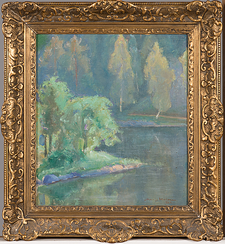 Marja halonen, oil on canvas, signed and dated 1927.
