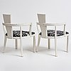 A pair of armchairs, jugend, sweden early 20th century.