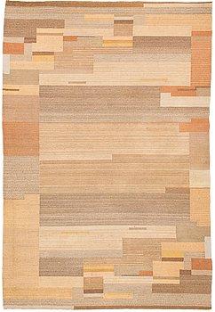 Greta Skogster-Lehtinen, s  flat weave carpet for Aaltosen Mattokutomo Kiikka Finland. Ca 310x210 cm.