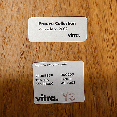 """Jean prouvé, stolar, 7 st, """"standard"""", prouvé collection 2002,  vitra."""