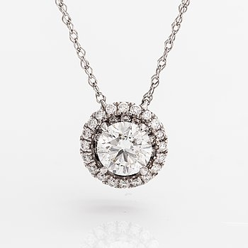 A 14K white gold necklace with diamonds ca. 1.16 ct in total. Westerback/Kultajousi, Helsinki 2016.