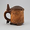 A wooden tankard, probably norway, dated 1797.
