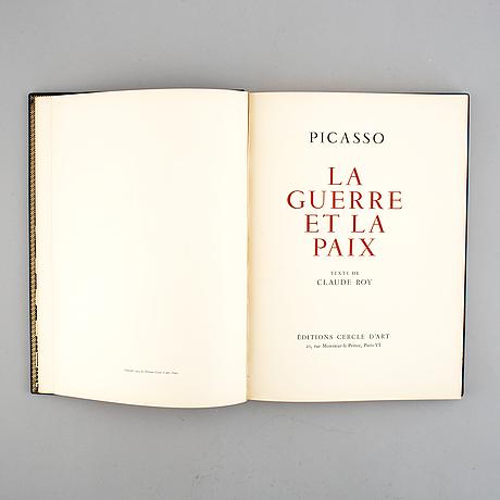 Pablo picasso, book, 'la guerre et la paix', signed.