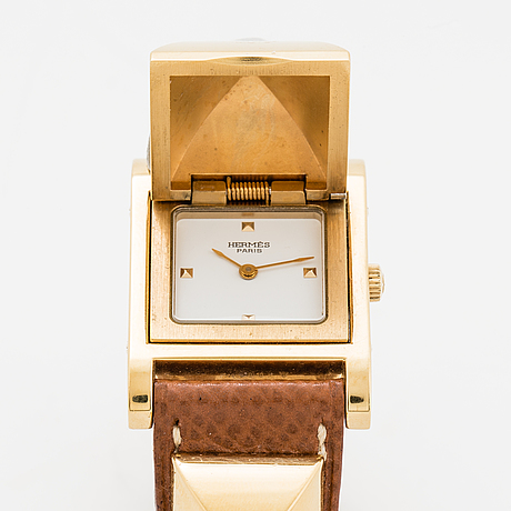 Hermès, medor, wristwatch, 23 x 32 mm.