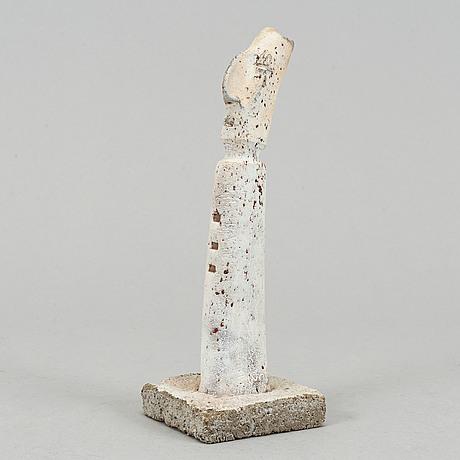 Nils gunnar zander, skulptur, lera, signerad.