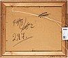 Sixten lundbohm, oil on paper-panel, stamped signature.