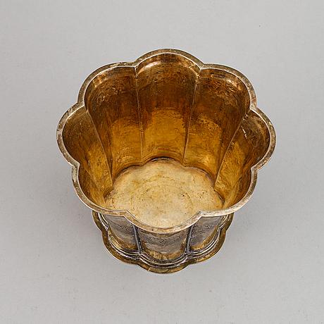 Silver bowl.