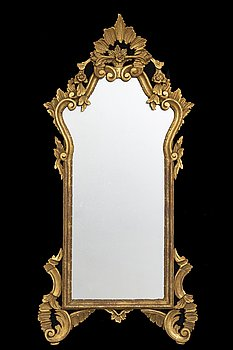 An mid 20th century Louis XV-style mirror from Paoletti, Firenze Italy.