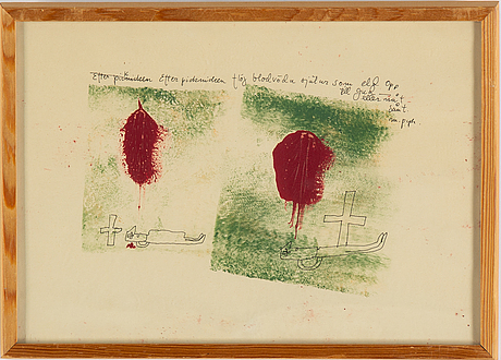 Madeleine pyk, ink and watercolour, signed.