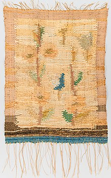 Ingeborg Olin-Nummeli (Olin-Nyström), textil. Ca 57x44 cm.