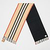 Burberry, a icon stripe scarf.