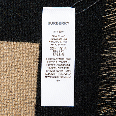 Burberry, scarf.