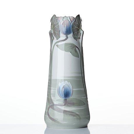 Ruben rising, an art nouveau porcelain vase, rörstrand, sweden ca 1900.