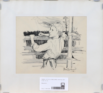 OTTO G CARLSUND, teckning, sign o dat -12.