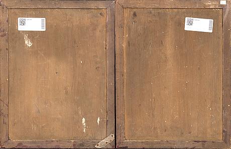 Spegelmålningar ett par kina 1900-tal.