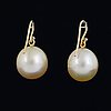 Golden south sea pearl earrings and loose south sea pearl.
