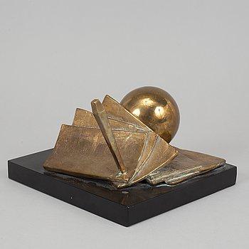 Jens-Flemming Sørensen, sculpture. Signed and numbered 6/6. Bronze, height 15.5 cm, length 25 cm.