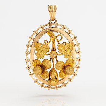 A 14K gold pendant. Oskar Lindroos, Helsinki 1948.