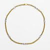 A 14k gold necklace with diamonds ca. 0.13 ct in total.