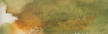 Marcus collin, vesiväri, signeerattu ja päivätty -24.