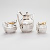 A three-piece gadrooned silver coffee set, helsinki and turku 1911 and 1914.