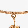 """Liisa vitali, a 14k gold bracelet """"kevät"""" (spring). westerback, helsinki 1970."""
