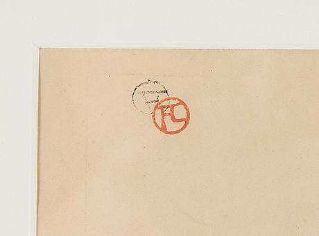 Henri de toulouse-lautrec, lithograph. stamped monogram.