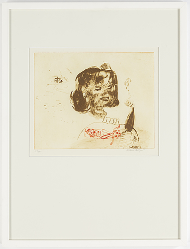 Helene billgren, etching. signed 217/250.
