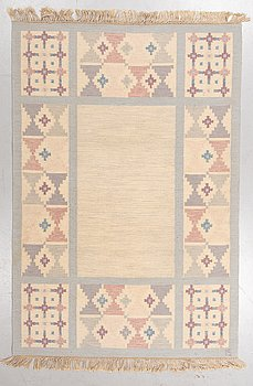Ingegerd Silow, a carpet, flat weave, ca 248-249 x 168-169,5 cm, signed IS.