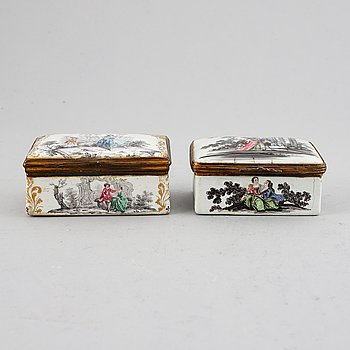 Two enamel boxes, 18/19th century.