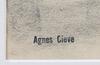 Agnes cleve, teckning, stmplsign.
