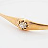 Old-cut diamond bangle.