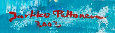 Jarkko peltonen, olja på duk, signerad och daterad 2002.
