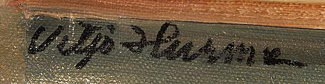 Viljo hurme, oil on canvas, signed.