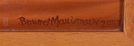 Bruno maximus, öljy kankaalle, signeerattu ja päivätty 2002.