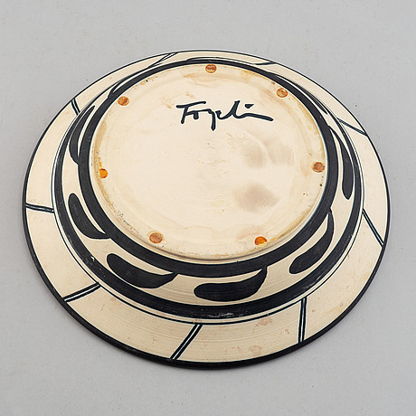 Herman fogelin, 5 stoneware pieces, signed.
